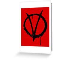 V for Vendetta Vintage Symbol Greeting Card