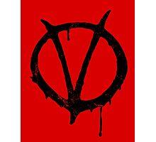 V for Vendetta Vintage Symbol Photographic Print