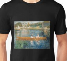 Boating On the Seine by Pierre Auguste Renoir  Unisex T-Shirt