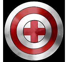 CAPTAIN ENGLAND - Captain America inspired English shield Photographic Print