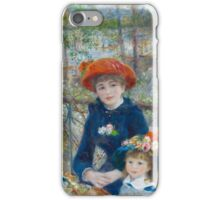 The Two Sisters, On the Terrace by Renoir  iPhone Case/Skin