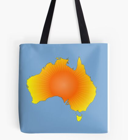 Sunny Australia Map Tote Bag