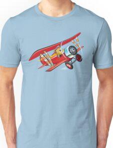 Cartoon biplane Unisex T-Shirt