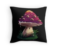 Watch for Spores Throw Pillow