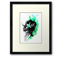 King Sombra - Green Framed Print