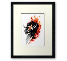 King Sombra - Red Framed Print
