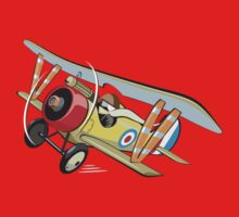 Cartoon biplane One Piece - Short Sleeve