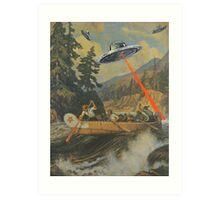When Explorers Collide Art Print
