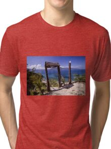 Doorway to Paradise - Travel Photography Tri-blend T-Shirt