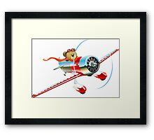Cartoon retro airplane Framed Print