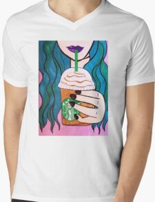 Sip (Starbucks) Mens V-Neck T-Shirt