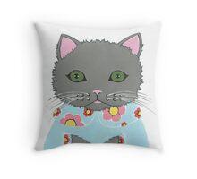 Chic Cat Throw Pillow