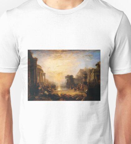 Dido building Carthage by Joseph William Turner Unisex T-Shirt
