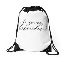 Do You Douche? (White) Drawstring Bag