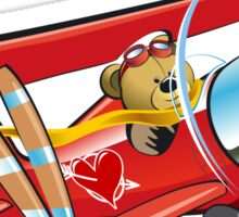 Cartoon biplane Sticker