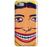 Steeplechase Psychedelic Smiling man iPhone Case/Skin