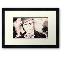 Cheer Up Charlie, Willy Wonka / Charles Manson Framed Print