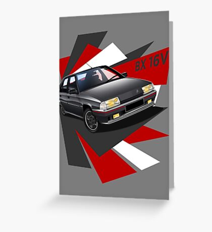 Citroen BX 16V in grey T-shirt Graphic Greeting Card