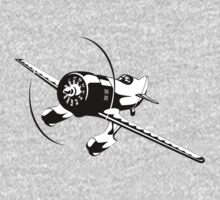 Cartoon racing airplane One Piece - Long Sleeve