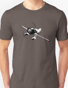 Cartoon racing airplane Unisex T-Shirt