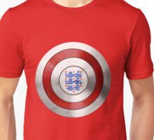 CAPTAIN ENGLAND - Captain America inspired English shield Unisex T-Shirt