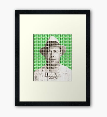 Machine Gun Kelly Mug Shot - Green Framed Print