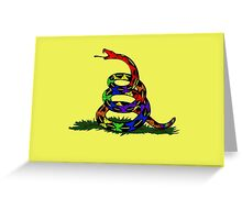 Rainbow snake Greeting Card