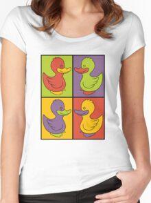 Pop Art Love Ducks Women's Fitted Scoop T-Shirt