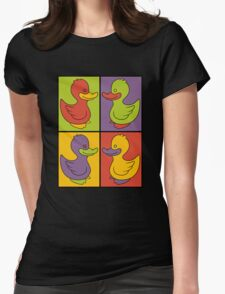 Pop Art Love Ducks Womens Fitted T-Shirt