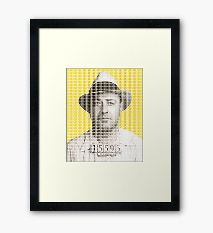 Machine Gun Kelly Mug Shot - Yellow Framed Print