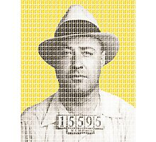 Machine Gun Kelly Mug Shot - Yellow Photographic Print