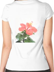 Hibiscus  Women's Fitted Scoop T-Shirt