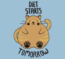 Diet Starts Tomorrow - Blue Kids Tee