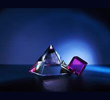 A Purple Cube With A Glass Pyramid by Schoolhouse62