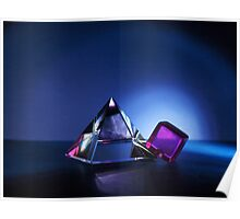 A Purple Cube With A Glass Pyramid Poster