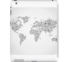 Note map iPad Case/Skin