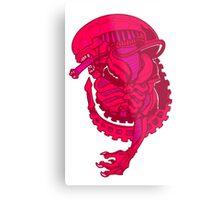 Pink Alien Xenomorph Metal Print