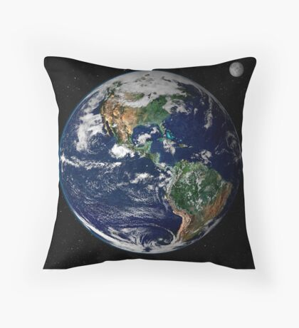 astronomy universe Hip Eco friendly Planet Earth Throw Pillow