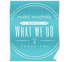 Blue AMA T Shirt Logo Poster