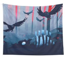 Blue Stone Landscape Wall Tapestry