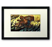 Fish hunt ! Framed Print