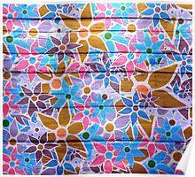 Trendy Floral Pattern Vintage Poster