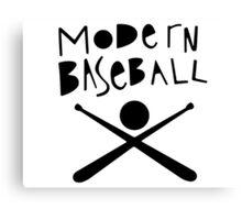 Modern Baseball // Black Canvas Print