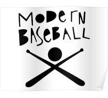 Modern Baseball // Black Poster