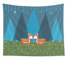 Cute Deer Illustration Wall Tapestry