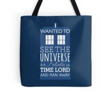 I stole a Time Lord Tote Bag