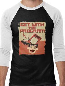Get With The Program Anti-Television T Shirt Men's Baseball ¾ T-Shirt