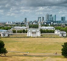 Greenwich and Canary Wharf by TomGreenPhotos