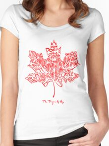 THE TRAGICALLY HIP - tour 2016 typography red edition Women's Fitted Scoop T-Shirt