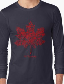 THE TRAGICALLY HIP - tour 2016 typography red edition Long Sleeve T-Shirt